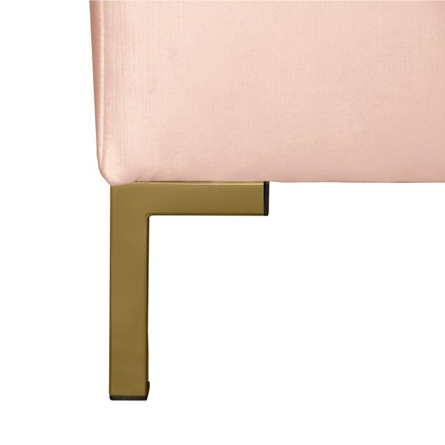Not Yet Made - Made To Order Queen Shell Platform Bed in Titan Pink Champagne For Sale - Image 5 of 7
