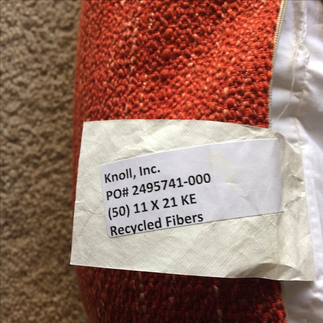 Knoll Mid Century Modern Lumbar Pillow in Paprika - Image 3 of 3