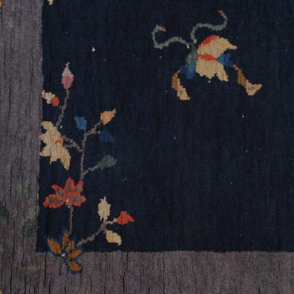 Art Deco Antique Chinese Deco Peking Carpet For Sale - Image 3 of 4