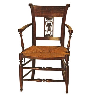 19th Century Italian Carved Armchair For Sale