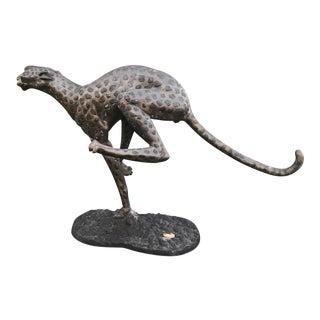 Bronze Wakandan Running Cheetah Statue