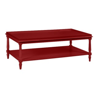 Casa Cosima Revere Cocktail Table, Classic Burgundy For Sale
