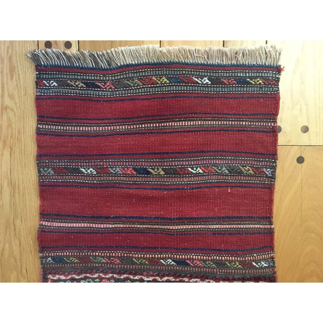 Early 20th Century Vintage Kurdish Bag Face Rug - 2′1″ × 4′9″ For Sale In New York - Image 6 of 8