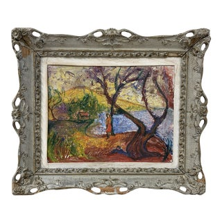 Late 19th Century Antique Impressionistic Landscape Painting For Sale