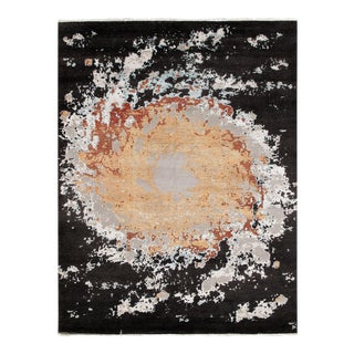 Pasargad Black Wool & Bamboo Silk Rug - 8' X 10' For Sale