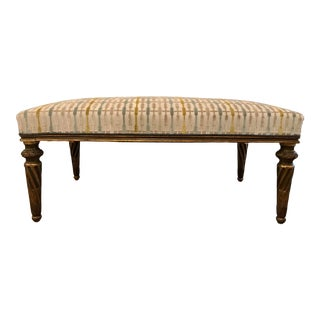 Italian Gilded and Patinated Bench For Sale