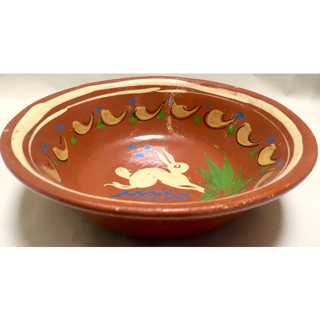 Redware Bowl With Rabbit - Image 2 of 5
