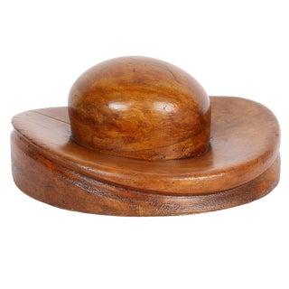 """Vintage Millinery Hat Block """"Bowler"""" For Sale"""