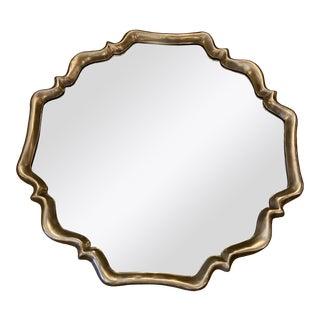 Art Deco Silver Shield Mirror For Sale