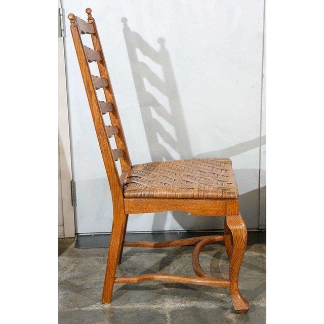 Ladder Back Dining Chairs - Set of 6 For Sale - Image 9 of 9