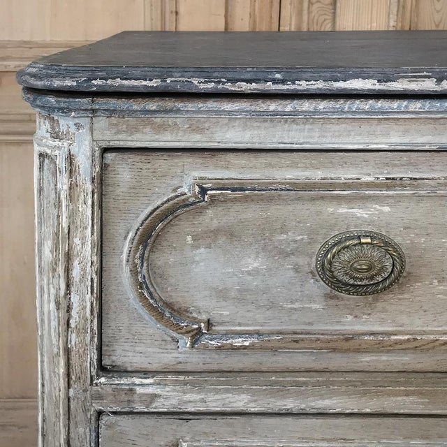 Oak 18th Century Country French Painted Commode For Sale - Image 7 of 13