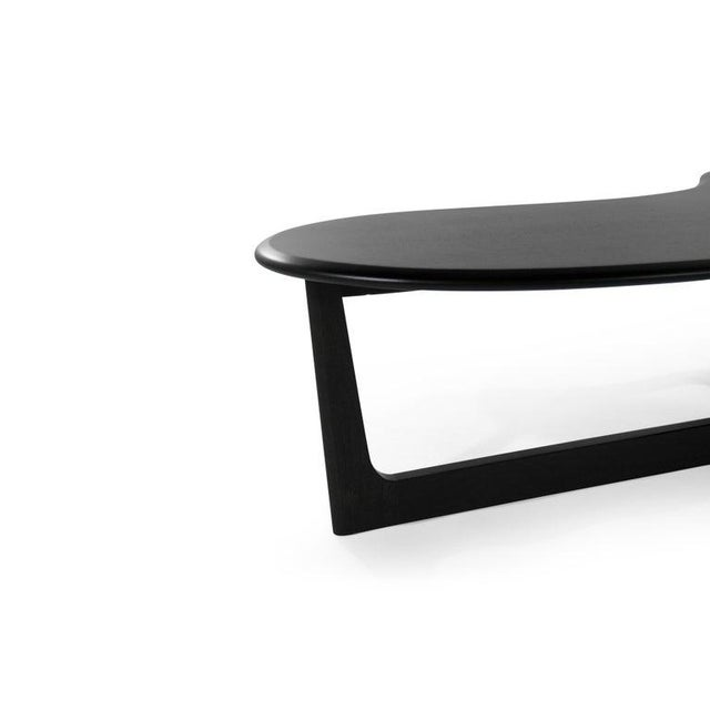 Asymmetric Mid-Century Modern Walnut Coffee Table For Sale In New York - Image 6 of 11