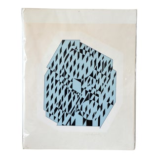 """Nethe"" Signed and Numbered Silkscreen Print by Victor Vasarely For Sale"