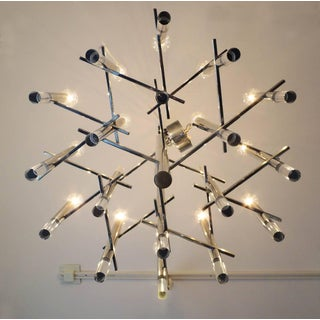 Sciolari Chrome and Lucite Fifteen-Light Chandelier Preview