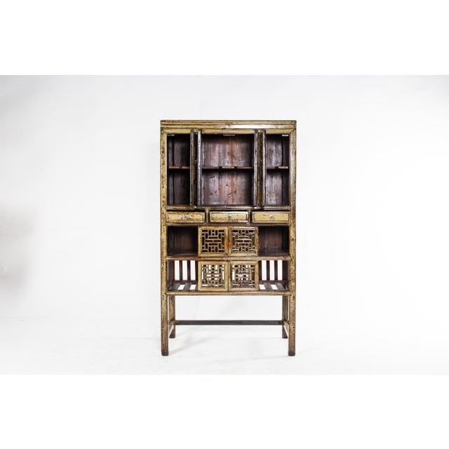 Brown 1920s Vintage Chinese Cabinet For Sale - Image 8 of 11