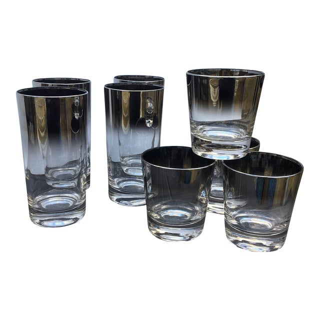 Dorothy Thorpe Style Ombre Glasses - Set of 8 For Sale
