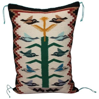 Navajo Weaving Tree of Life Pillow For Sale