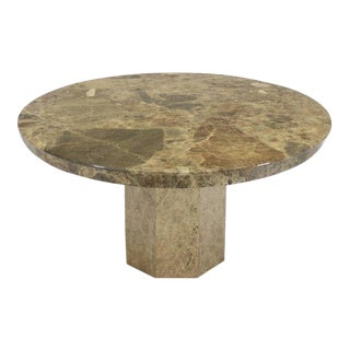 Mid-Century Modern Round Marble Dining Table For Sale