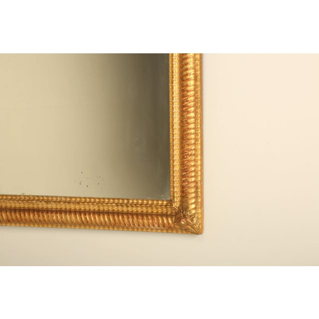 Antique French Gilded Mirror For Sale - Image 4 of 9