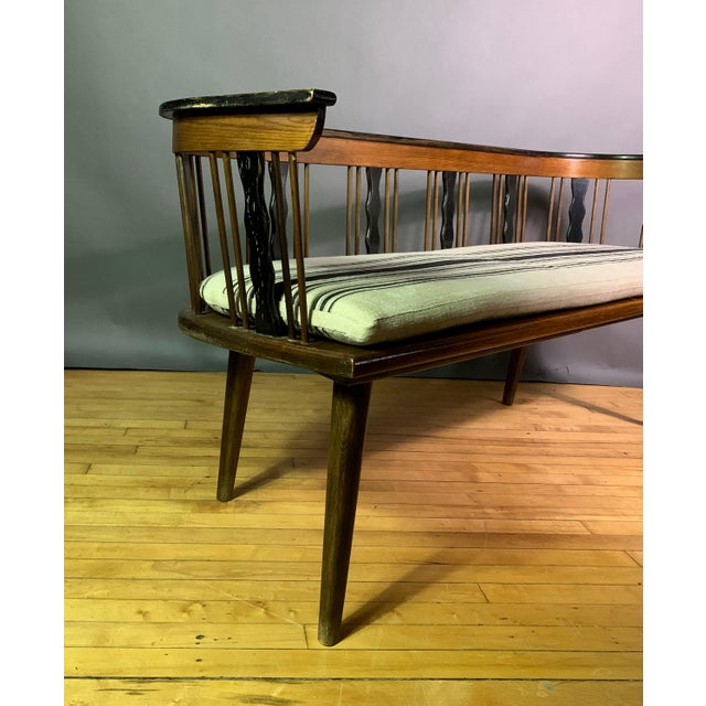 Swedish 1950s Småland Long Bench in Solid Pine For Sale - Image 10 of 11