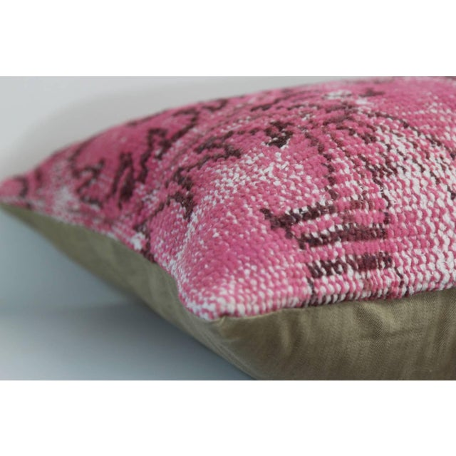 Pink Handmade Overdyed Pillow Cover - Image 2 of 2