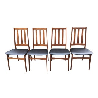 Schionning & Elgaard Danish Modern Teak Dining Chairs - Set of 4
