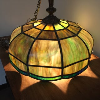 Tiffany-Style Stained Glass Light Fixtures - A Pair Preview