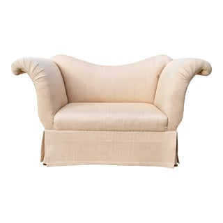 Baker Scroll Arm Settee or Bench For Sale