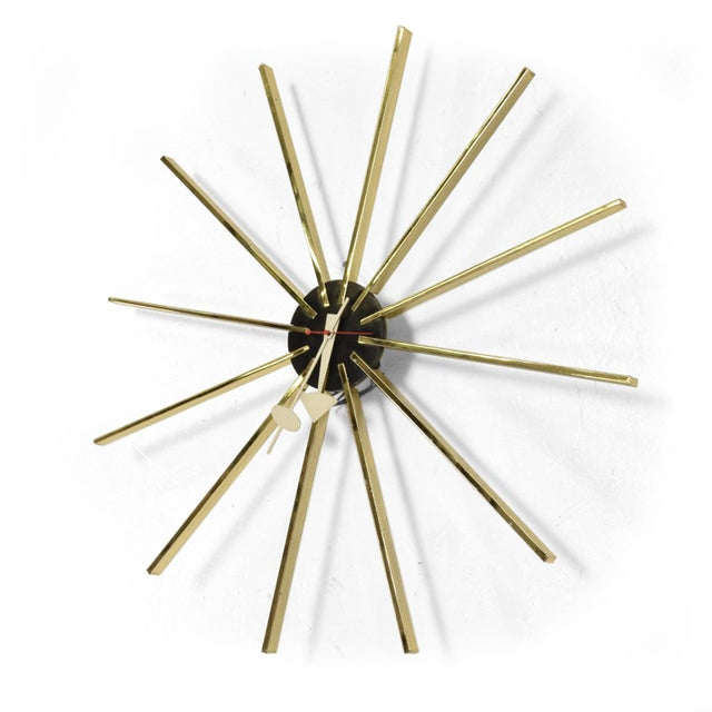Gold Mid Century Modern Wall Clock by George Nelson for Howard Miller For Sale - Image 8 of 8