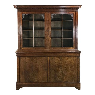 Mid-19th Century Louis Philippe Mahogany Bookcase For Sale