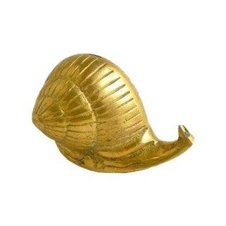 Vintage Brass Snail For Sale