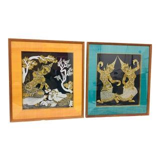 Pair Vintage Indian Prints