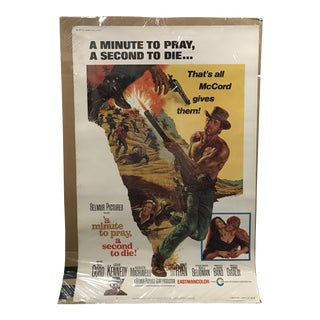 """Selmur Pictures """"A Minute to Pray, a Second to Die"""" Vintage Movie Poster"""