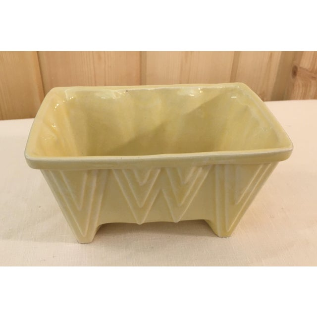 CP Cookson Art Deco Style Yellow Planter - Image 3 of 8