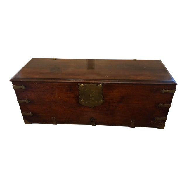 Late 18th Century Antique Sea-Man's Chest For Sale