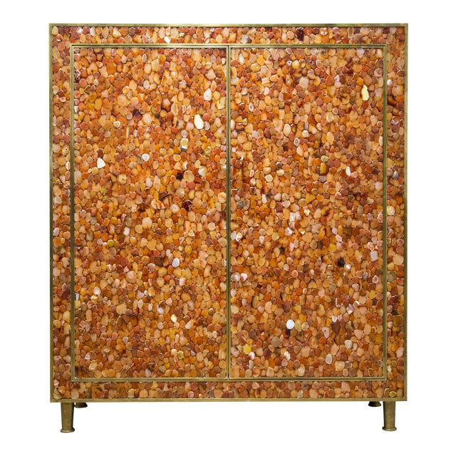 Kam Tin - Cabinet Covered With Agate Gemstone, France, 2012 For Sale