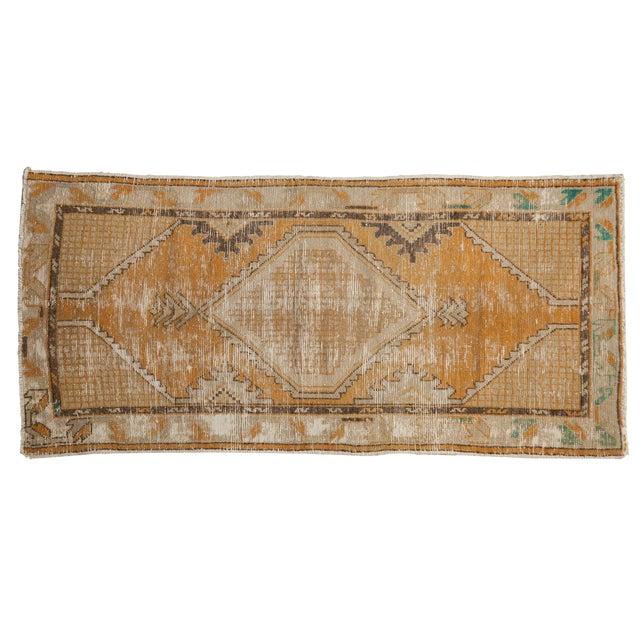 """Vintage Distressed Oushak Rug Runner - 2'7"""" X 5'3"""" For Sale"""