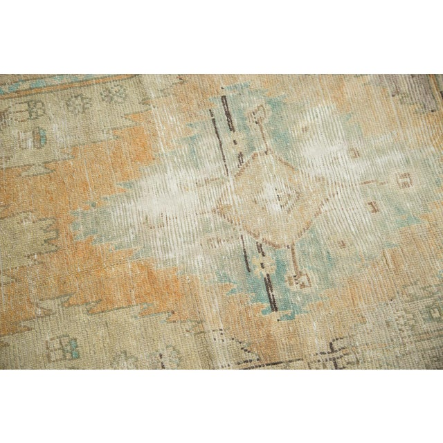 "Vintage Distressed Oushak Rug Runner - 3'2"" X 9'2"" - Image 6 of 11"