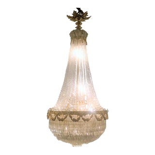 "Antique French 19th Century ""Belle Epoch"" Baccarat Crystal Chandelier. For Sale"