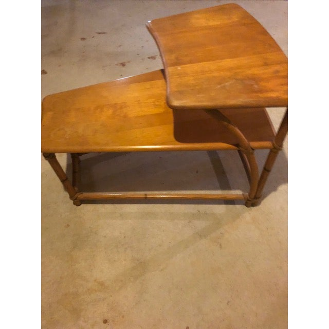 Caning 1950s Vintage Mid-Century Modern Heywood-Wakefield Side Table For Sale - Image 7 of 9