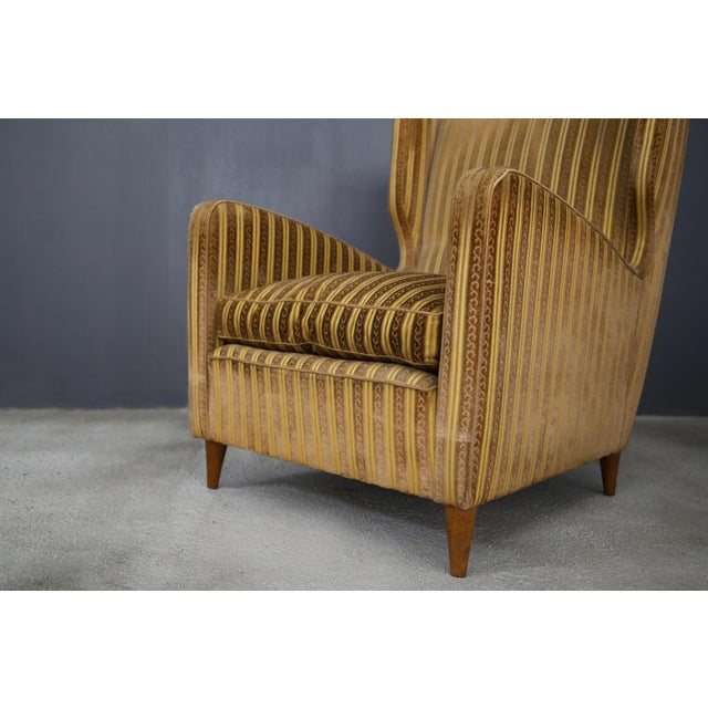 Gio Ponti Pair of Armchairs Melchiorre Bega for Grand Hotel Milano 1950 For Sale - Image 4 of 5