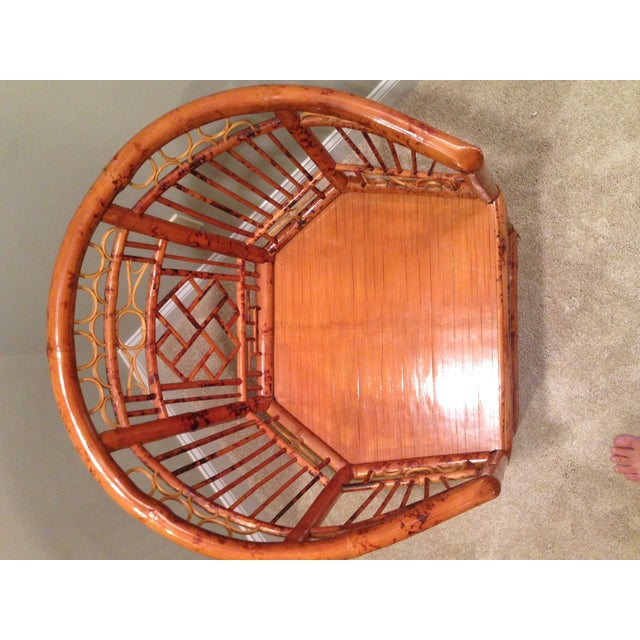 Chinese Chippendale Style Bamboo Chair - Image 3 of 8