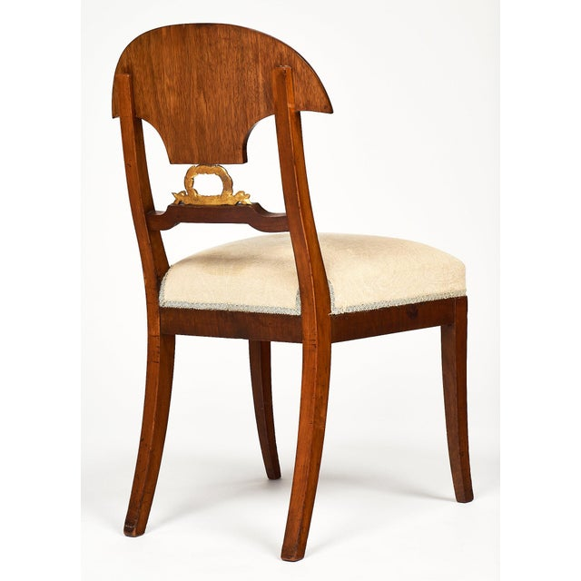 Mid-Century Modern Swedish Antique Set of Flamed Dining Chairs For Sale - Image 3 of 11