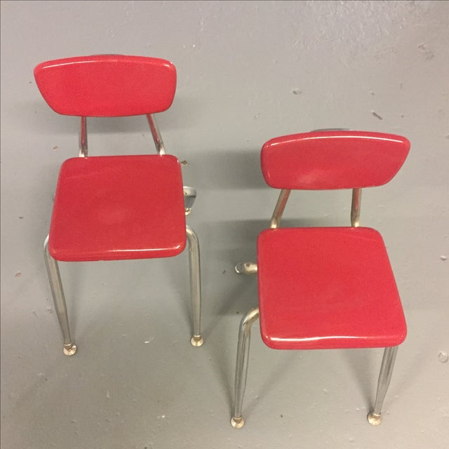 Vintage Pink Virco Children's Chair - Pair - Image 2 of 7