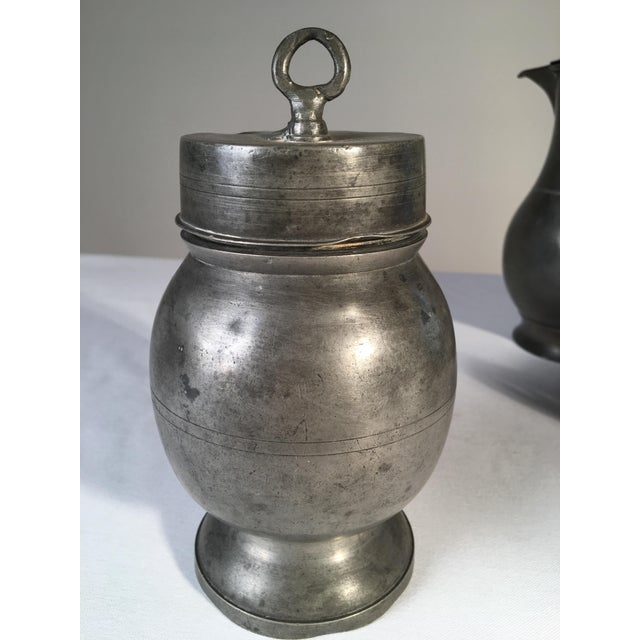 Collection of 4 Antique Pewter Articles For Sale In Philadelphia - Image 6 of 10