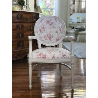 French Country, Cottage, Louis XVI Fauteuil Accent Chair Preview