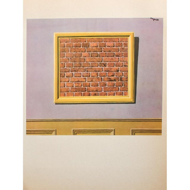 """Printmaking Materials 1972 Rene Magritte, """"The Empty Picture Frame"""" Original Photogravure For Sale - Image 7 of 7"""