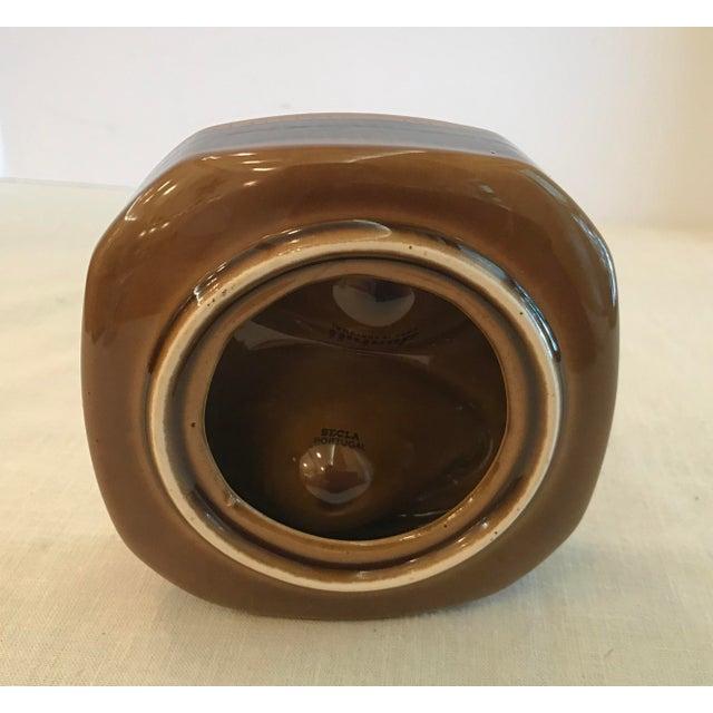 Ceramic Mid Century Vintage Brown Ceramic Egg Holder For Sale - Image 7 of 10