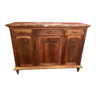 Late 19th Century French Marble Top Sideboard or Buffet For Sale