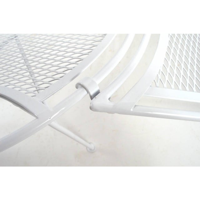 White Tempestini for Salterini High Back Lounge With Footrest For Sale - Image 8 of 9